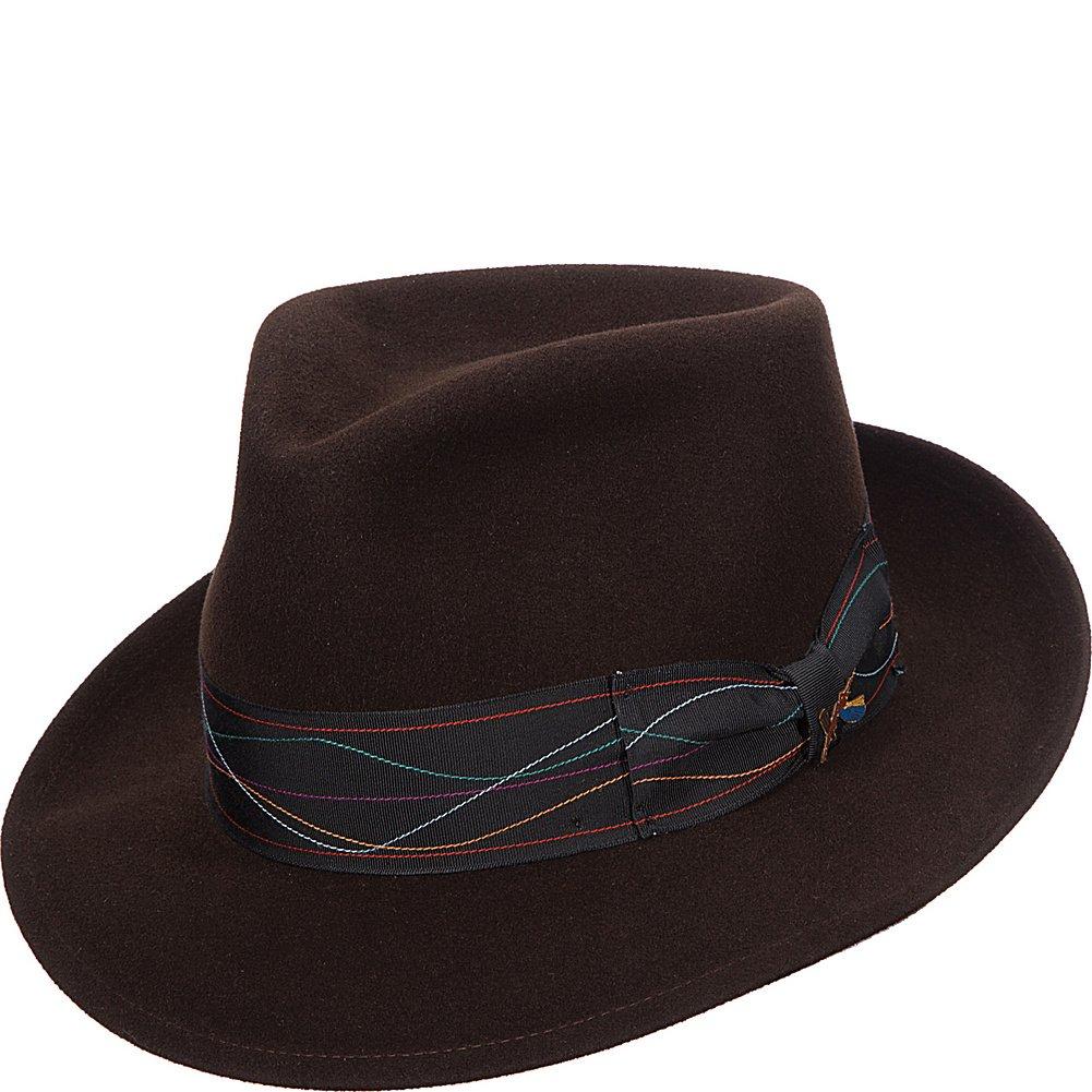 59a9b3d4b Santana Men's Comfort Merino Suede Teardrop Fedora Hat