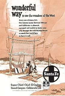 product image for Santa Fe Travel Train 1952 Original Advertisement