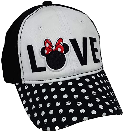 Image Unavailable. Image not available for. Color  Disney Minnie Mouse  Women s Love Polka Dot Adjustable Cap be8bac65ccfa