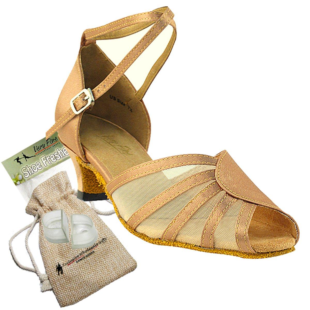 [Very Fine Shoes] レディース B00BZQQ14W ブラウンサテン 9 (B,M) US