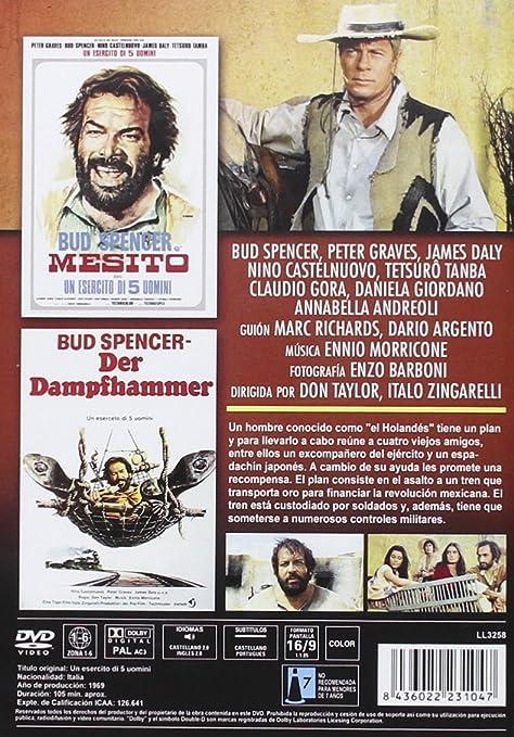Un Ejército de Cinco Hombres Un esercito di 5 uomini 1969 DVD: Amazon.es: Peter Graves, James Daly, Nino Castelnuovo, Tetsurô Tanba, Claudio Gora, ...