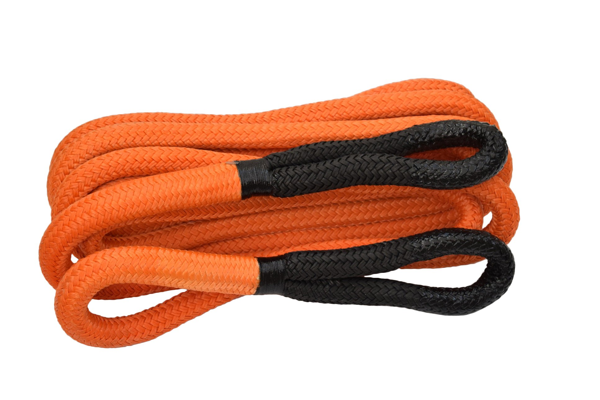 1''×30ft Kinetic Energy Rope Truck SUV Tow Rope,Recovery Rope 30000lbs,Towing Rope (Orange) by QIQU