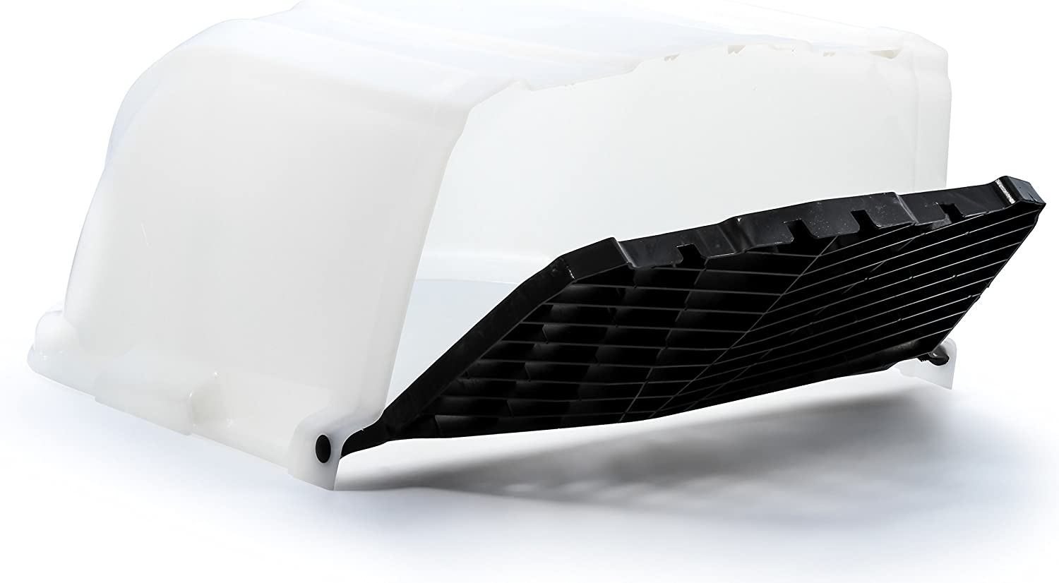 Camco XLT High Flow Roof Vent Cover, Opens for Easy Cleaning, Aerodynamic Design, Easily Mounts to RV with Included Hardware-White (40446)