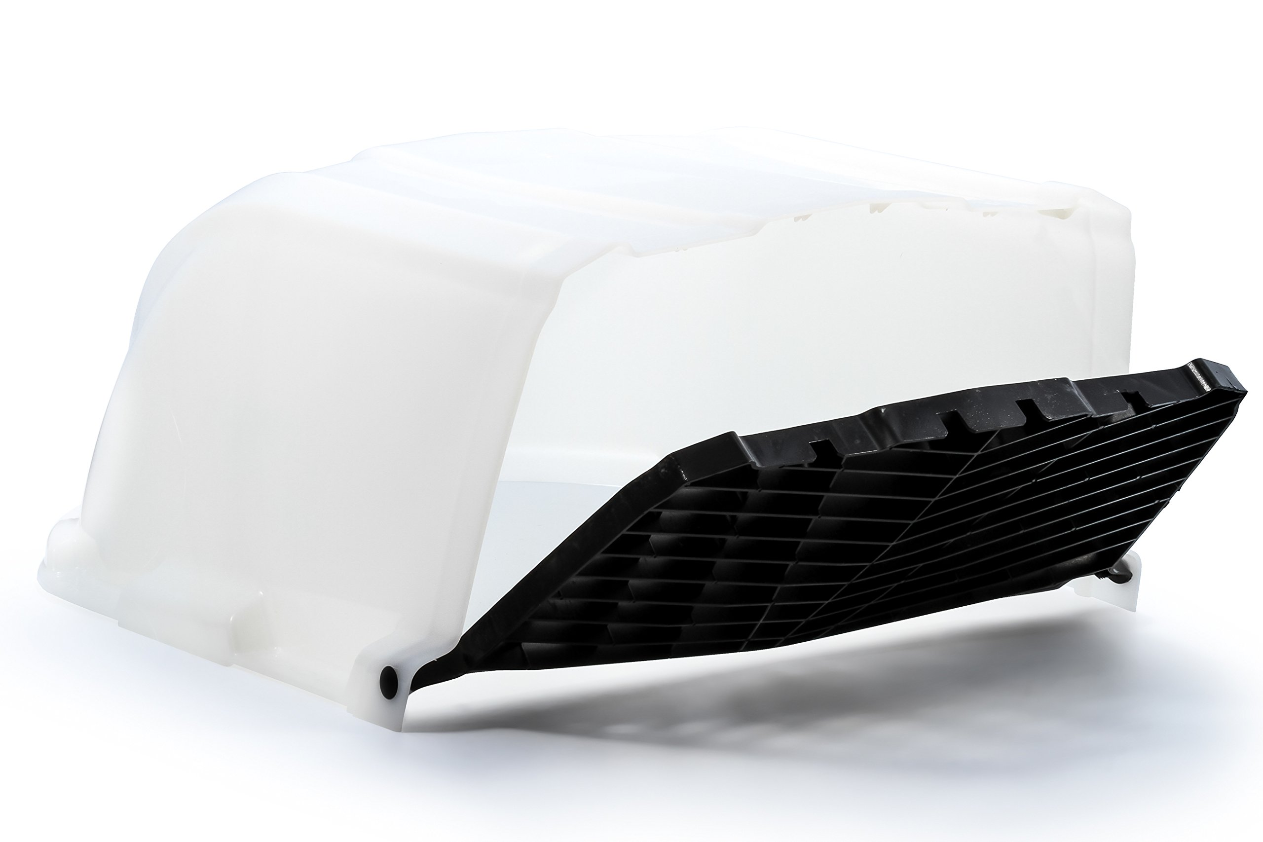Camco RV XLT High Flow Roof Vent Cover, Opens Easy Cleaning, Aerodynamic Design, Easly Mounts to RV Included Hardware (White)