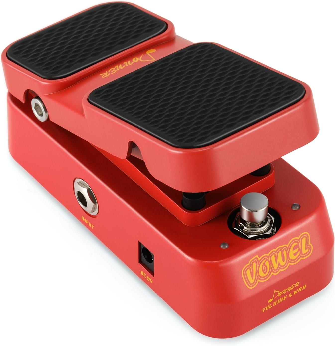 Donner Vowel Mini Wah / Pedal Volumen / Pedal de Efectos 2 en 1 para Guitarra