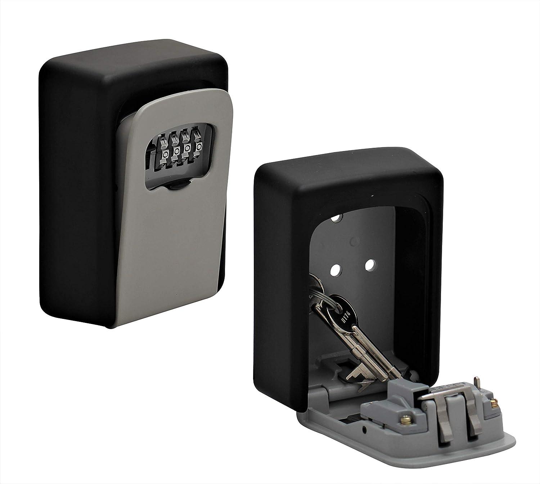 Caja fuerte para llaves con c/ódigo num/érico para montaje en pared en interiores y exteriores