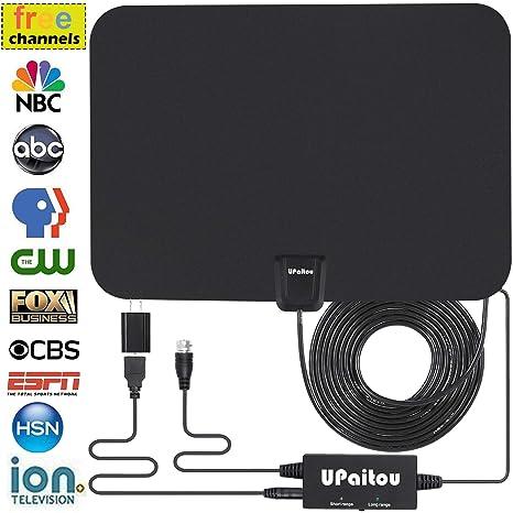 Amazoncom Digital Hd Tv Antenna Indoor Amplified Hdtv Antenna 60