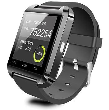 cyt Smartwatch U8 reloj deporte Bluetooth 3.0 pulsera de silicona para Smartphone ios: Amazon.es: Electrónica