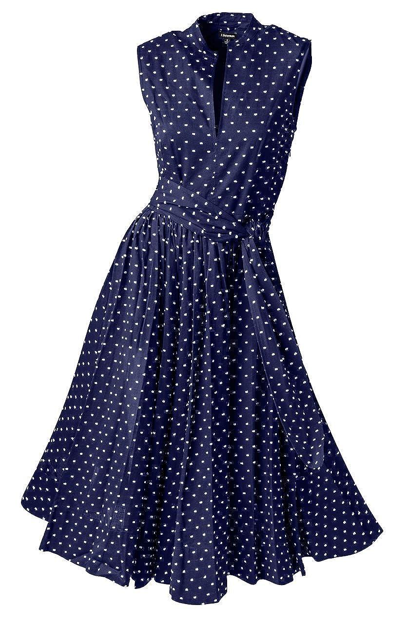 1950s Polka Dot Dresses Georginas Sunset Polka Dot Dress $263.35 AT vintagedancer.com