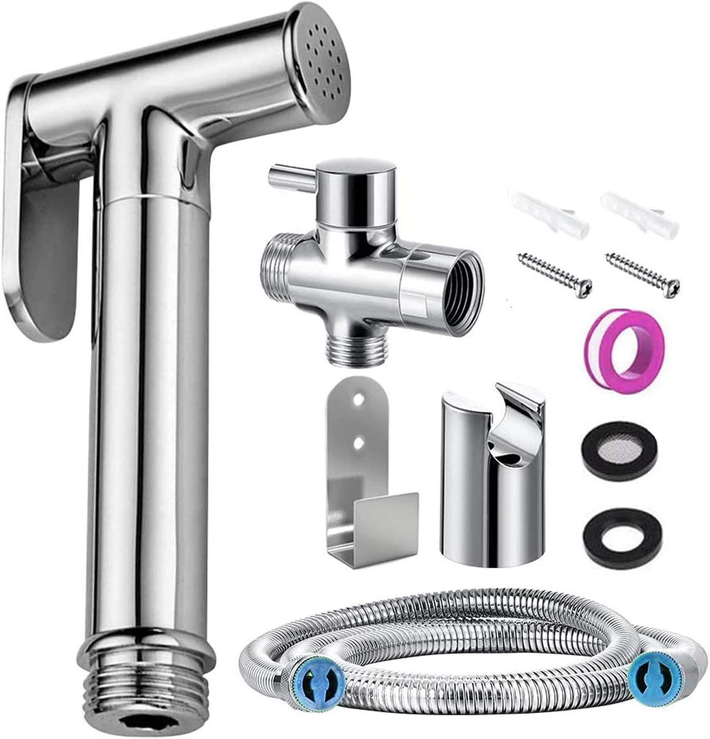 Handheld Bidet Sprayer Bidet Accessories Toilet Stainless Steel Shower Attachment For Bathroom Sink Or Toilet