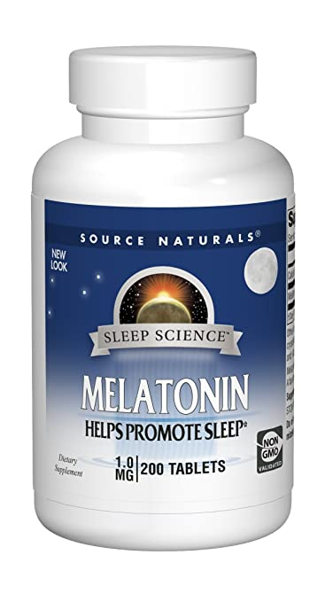 Source Naturals Sleep Science Melatonin 1mg Promotes Restful Sleep and  Relaxation - Supports Natural Sleep/