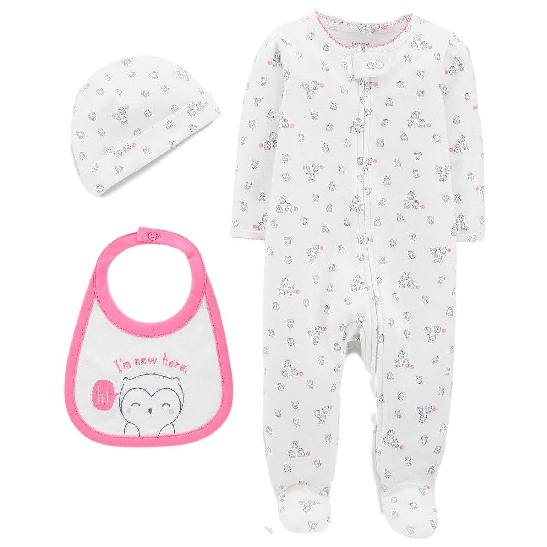 Carters Just One You Preemie Baby Girl Pajamas Sleeper Set