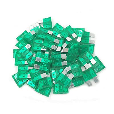 (50 Pcs) MCIGICM 30 Amp ATC Fuse Blade Style Scosche 30A Automotive Car Truck: Industrial & Scientific