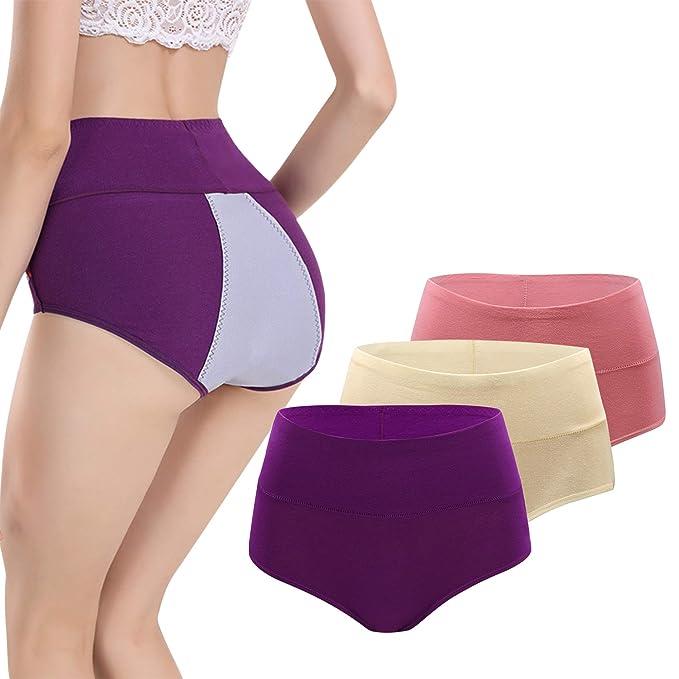 Damen Menstruation Slip Wasserfest Auslaufsicher Unterhose Hohe Taille