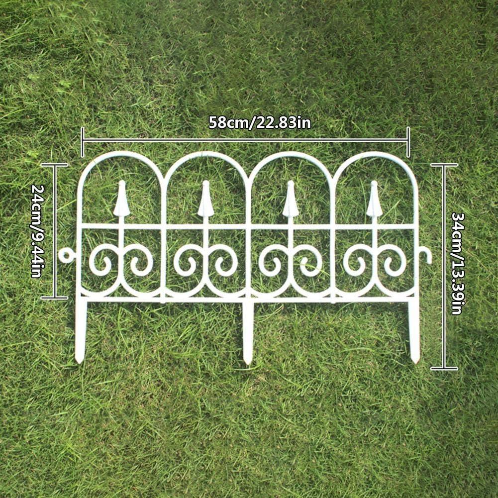 N/C 5PCS Lawn Edging Border White/Black, Fence Edge Garden Lawn ...