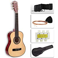 """LAGRIMA Acoustic Guitar Beginners with Guitar Case, Strap, Tuner & Pick Steel Strings (30"""" Yellow)"""