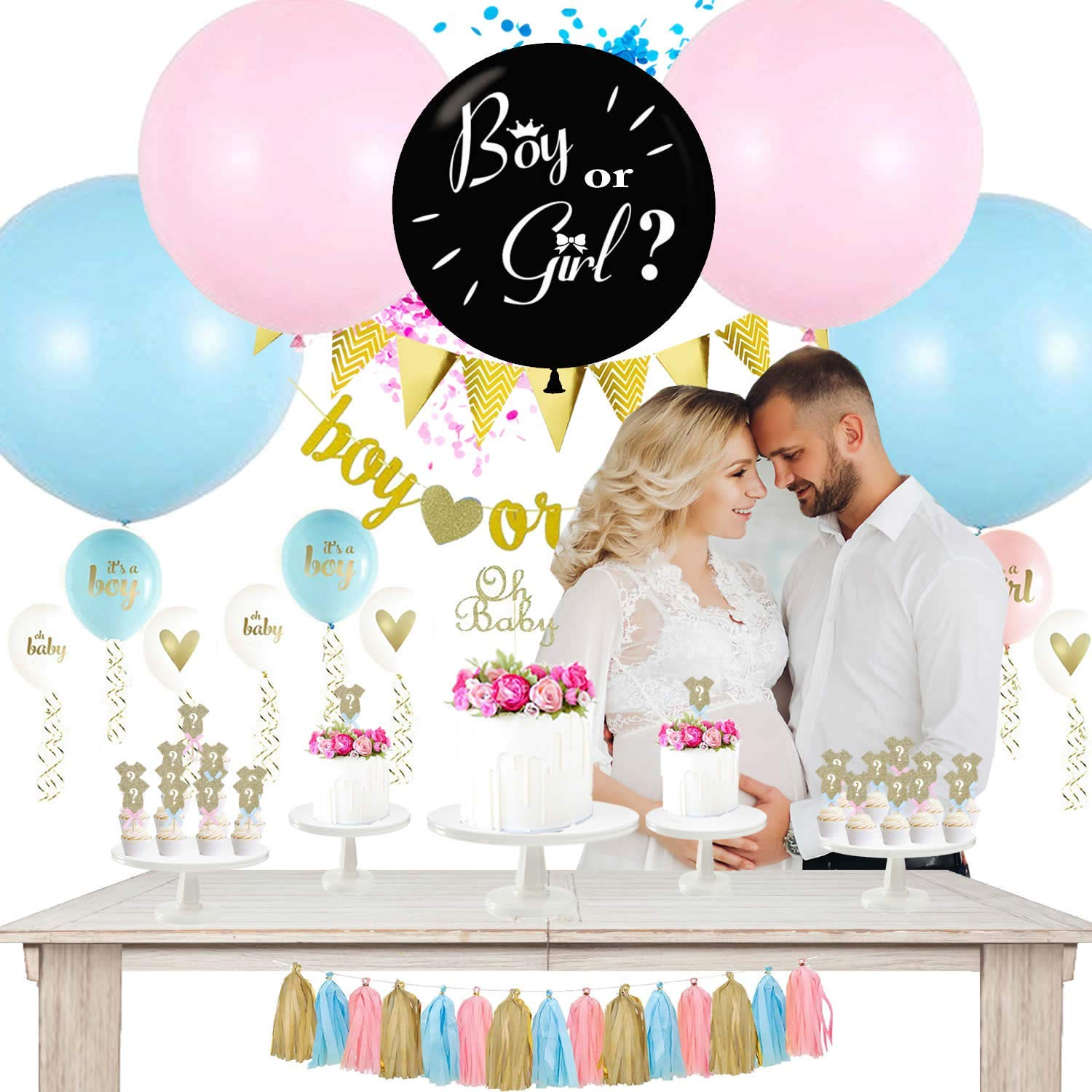 Gender Reveal Party Supplies Gender Reveal Decorations KIT creatique Baby Shower Decorations Set Baby Reveal Party Supplies Gender Reveal Balloon Baby Gender Reveal Party Supplies Gender Reveal Ideas