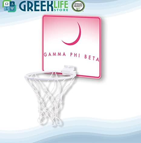 42fdee3d2c4 Image Unavailable. Image not available for. Color: greeklife.store Gamma  Phi Beta Hardboard Mini Basketball Goal
