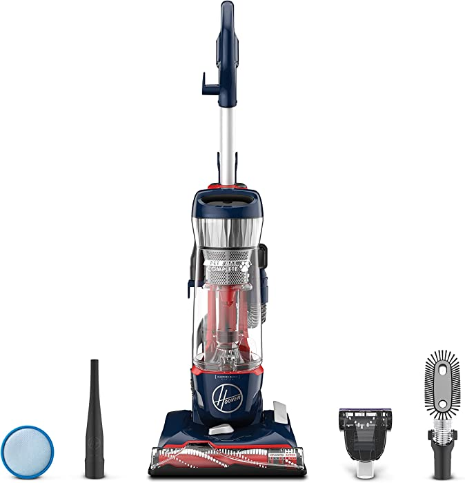 Hoover Pet Max Complete Bagless Upright Vacuum Cleaner, UH74110, Blue Pearl