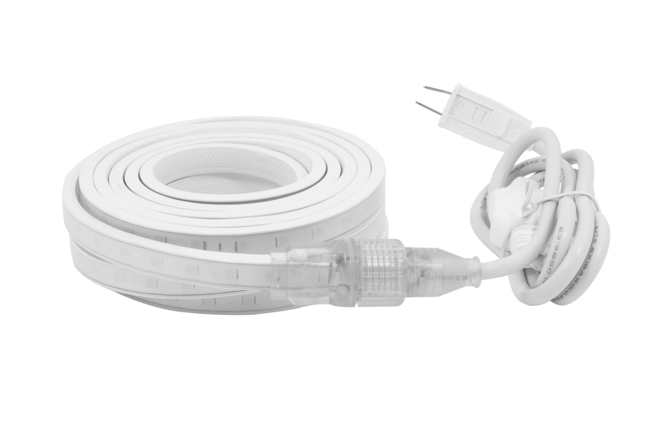 American Lighting H2-KIT-45-WH LED Hybrid2 Accent Lighting Kit, Dimmable, 5000K Bright White, 120V, 135-Watts, 45-Foot