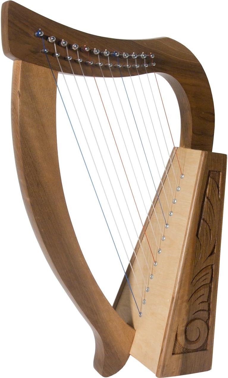 Roosebeck Baby Harp 12 String Walnut + Extra String Set & Tuning Tool