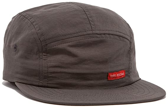 Amazon.com  Topo Designs Unisex Nylon Camp Hat Charcoal One Size ... 696e9e08519