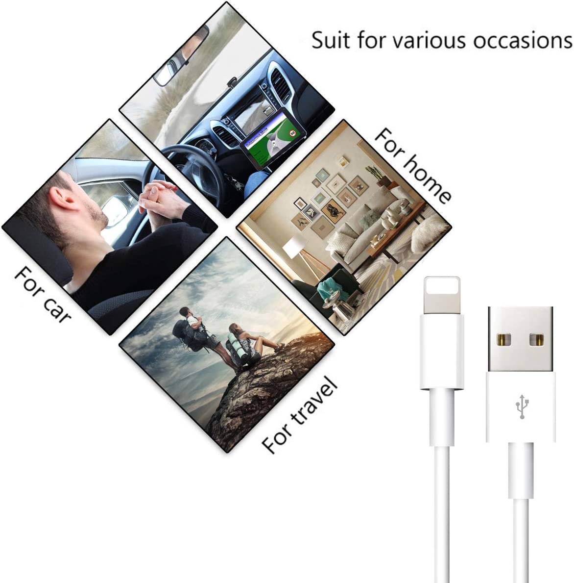 Charging Cables 2M LOVENIMEN USB 6FT Charger Cable Wires Fast Charging Syncing Data Lines High Speed Durable Cords Compatible with Phone 11 Pro XR XS MAX X 8 8plus 7 Plus 6s 6 5-10 Pack