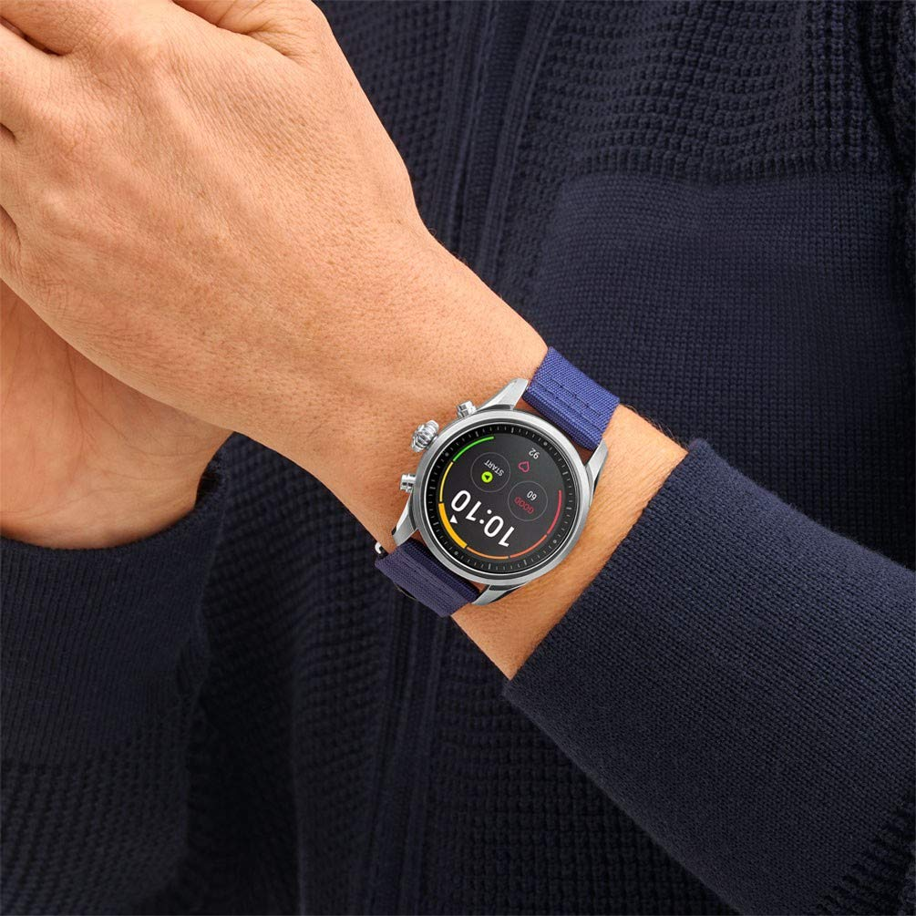 Montre Montblanc Summit 2 SmartWatch 119561 Acier Inoxydable Nylon Bleu: Amazon.fr: Montres