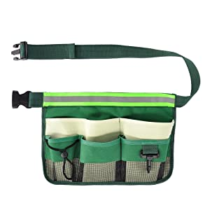 SYOOY Gardening Tools Organizer Garden Waist Bag Hanging Pouch with Adjustable Belt for Holding Tools