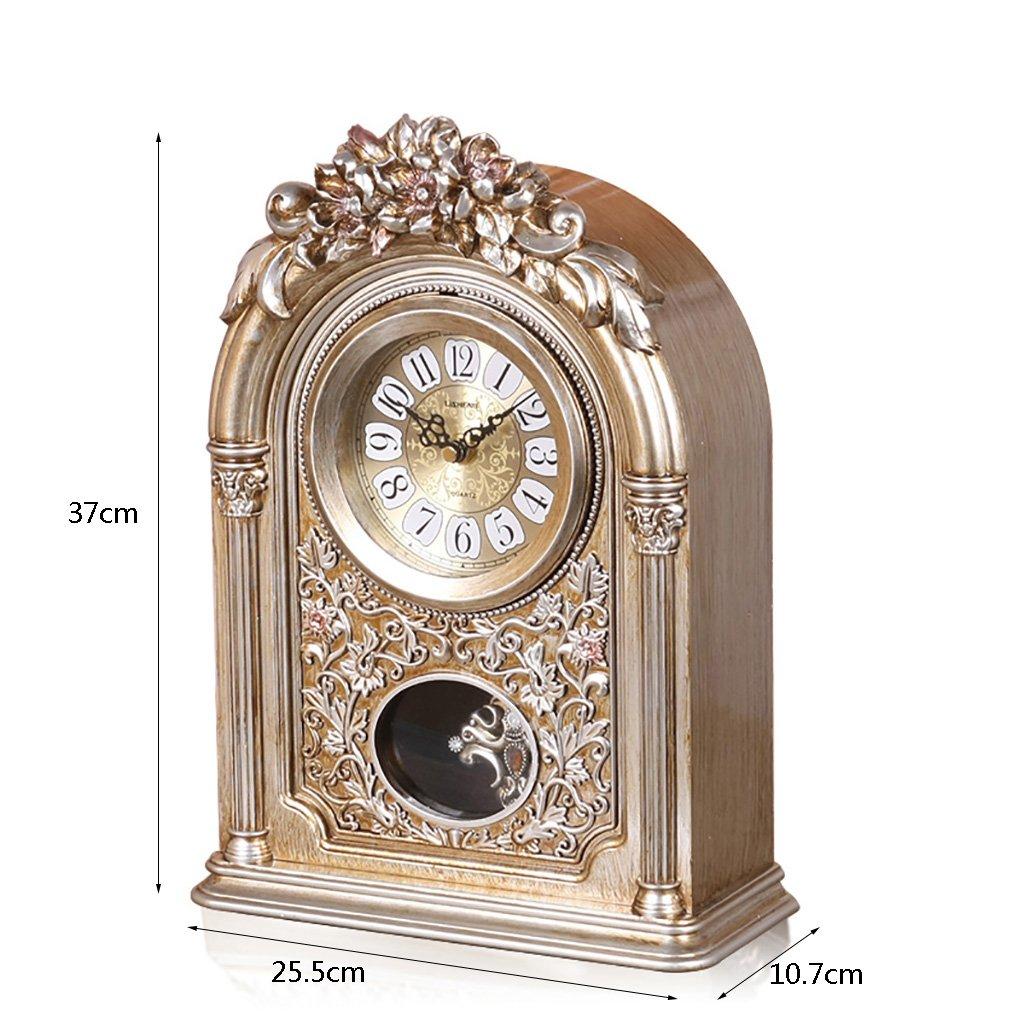 LANNA SHOP- European Vintage Retro Mantel / Mantle Rhythm Clock with Pendulum Movement by Clock