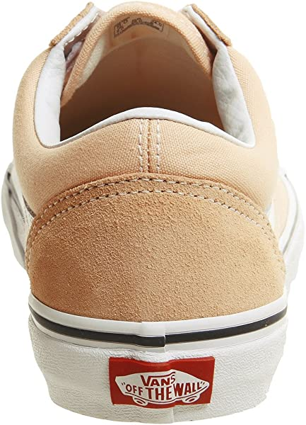 d28b10055e797 Unisex Color Theory Old Skool Suede/Canvas Lace-Up Trainer Bleached Apricot  -Apricot-6