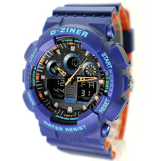 d-ziner Unisex Digital y analógica reloj para la práctica de deportes (resistente al agua luminosa cronógrafo alarma moda estilo: Amazon.es: Relojes