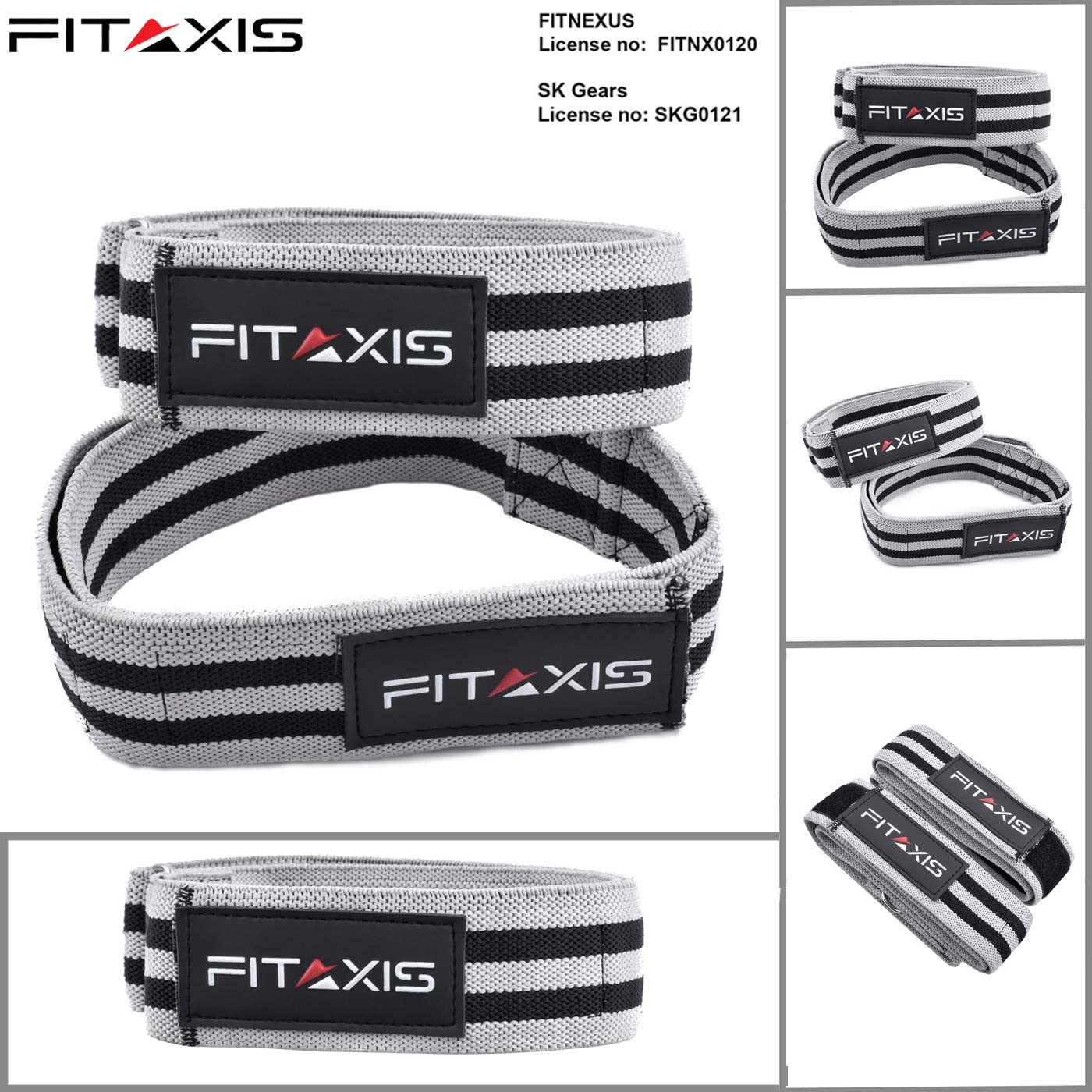FITAXIS Fitness Training Arm Leg Blood Flow Restriction Occlusion Bands /& Straps