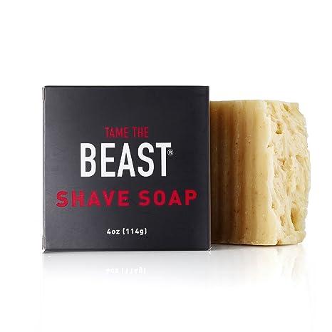 Tame the Beast jabón de afeitar vegana - cara y el cuerpo natural barra de todo