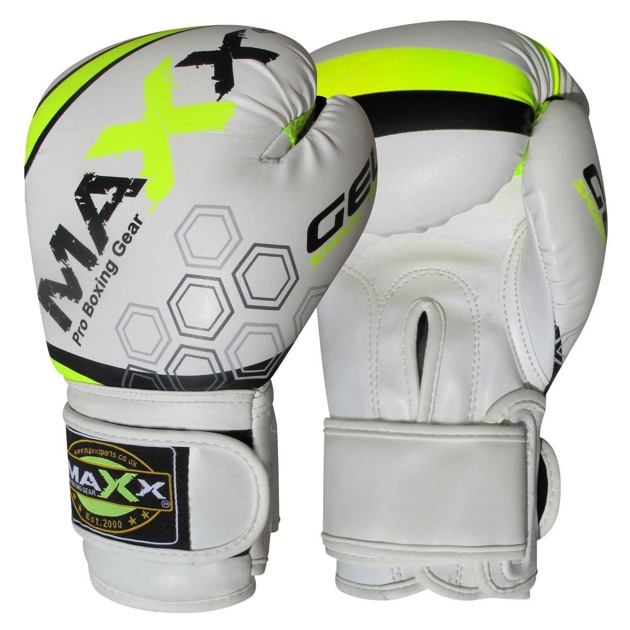 BOOM Prime Green Kids Boxing Gloves 4oz 6oz 8oz Maya Leather Junior Punch Bag Kickboxing Mitts Children Gel Pad MMA Muay Thai Training Sparring