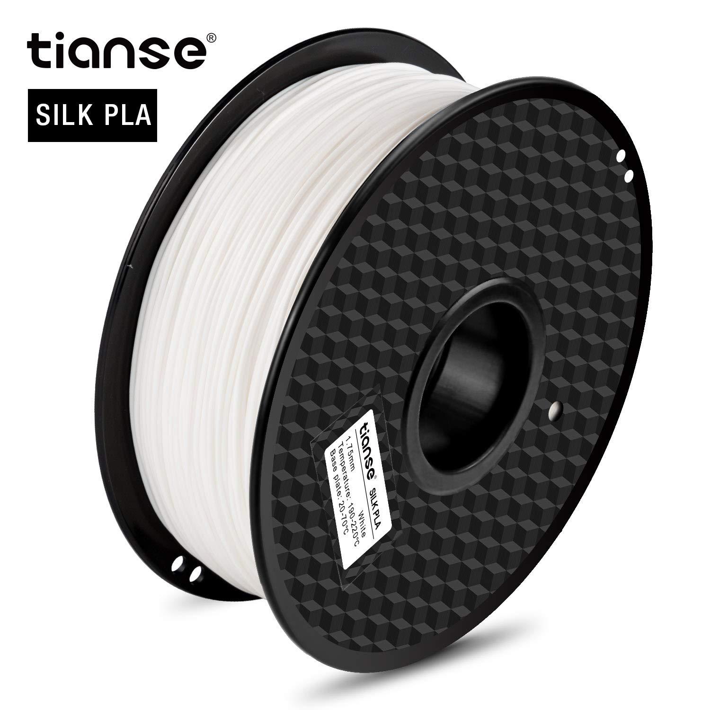 White TIANSE Silk PLA 3D Printer Filament