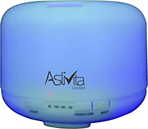 AstiVita Essential Oil Diffuser 500ml - 5 in 1 Ultrasonic Aromatherapy - Fragrant Oil - Vaporiser/Humidifier