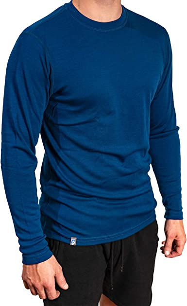 ALPIN LOACKER Camiseta de Manga Larga, 100% Lana de Merino - Suave y Secado Rápido - termorreguladora para Cotidiano, Deportivas, Senderismo Escalada ...
