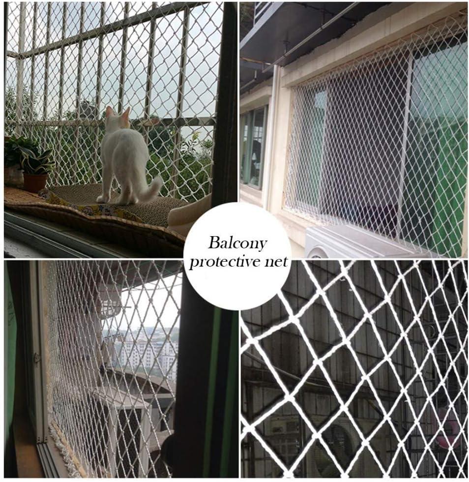 Balcony Protective Net 1x4m Stair Anti-Fall Net Anticorrosive Nylon Rope Net Fence Net Child Safety Net 3 * 29ft Cargo Net Cat Net Size : 1 * 9m Climbing Net