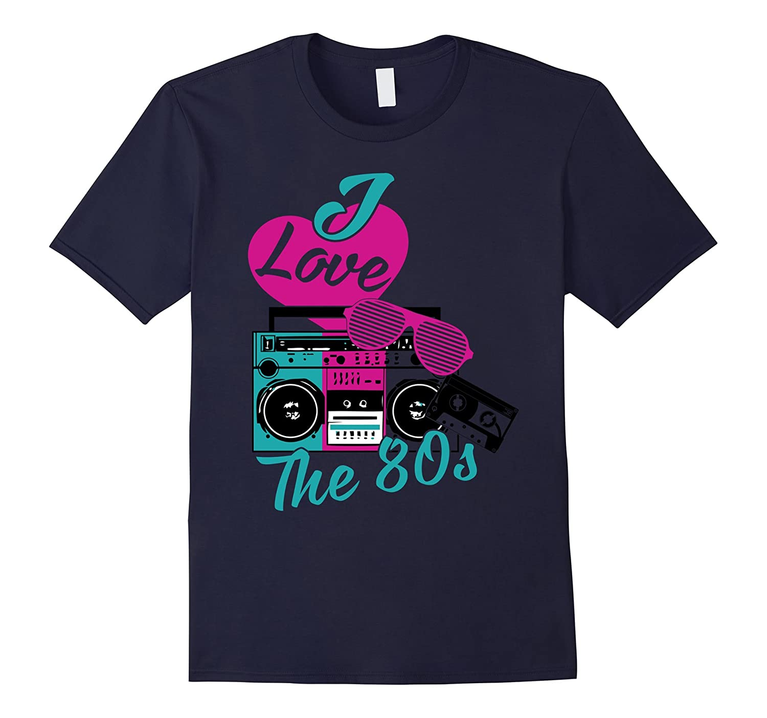 I Love Heart The 80s Flashback Pop Culture 1980s T-shirt-TD