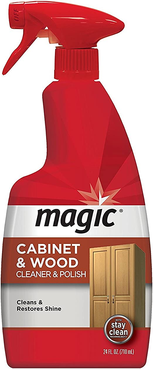 Magic Wood Furniture Cleaner and Polish - 24 Ounce - Use on Wood Doors,  Tables, Chairs, Cabinets