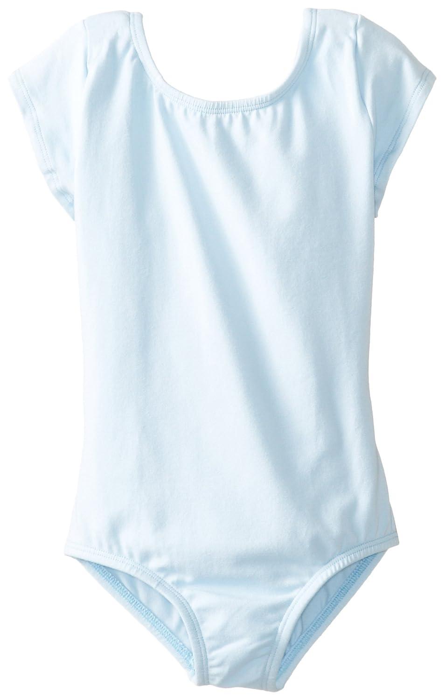Big Girl's Short Sleeve Scoop Neck Ballerina One Piece Leotard Dancewear Costume Clementine MG120