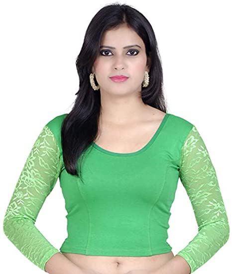 08993fb5383a8 Amazon.com  Fressia Saree Blouse Readymade Stretchable Cotton Lycra Free  Size Stitched Saree Blouses for Women Party Wear  Clothing