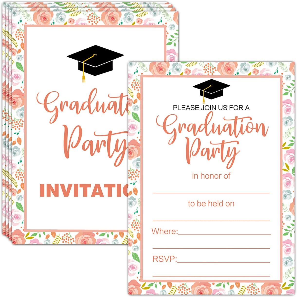Graduation Going Away Party Invitation,Announcement,Map of United States,Airplane,Unisex,Personalize,Printed Card,Envelope
