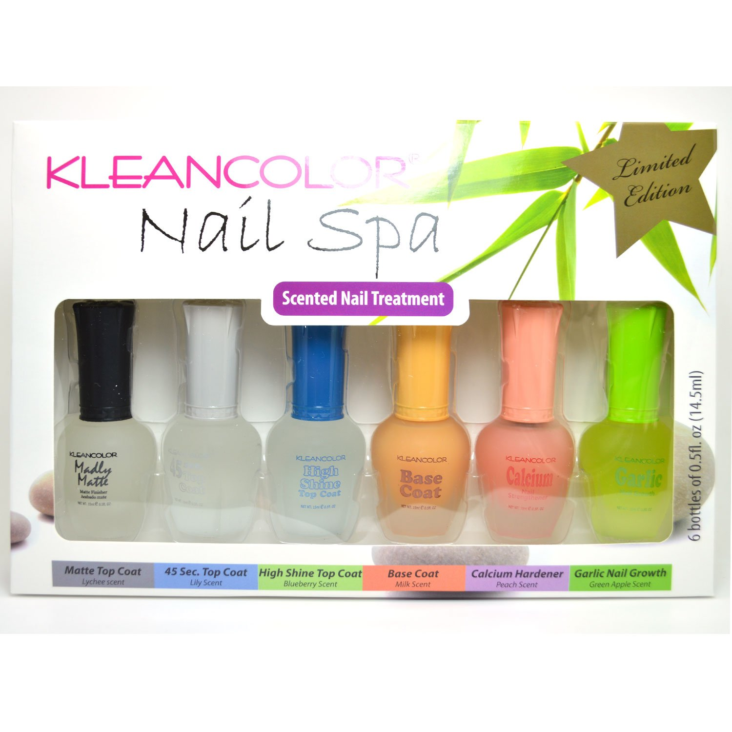 Amazon.com : 6 Kleancolor Polish Nail Spa Limited Edition Scented ...