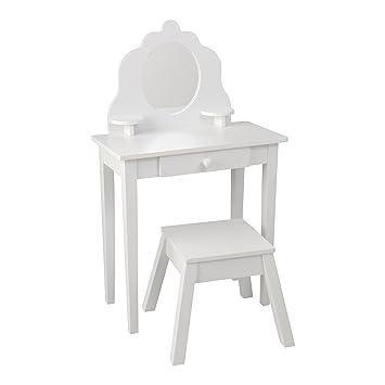 Spiegel Kinderzimmer | Kidkraft 13009 Mittelgrosser Frisier Schminktisch Hocker Aus Holz