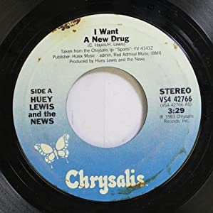 HUEY LEWIS AND THE NEWS 45 RPM I Want A New Drug / Finally Found A Home