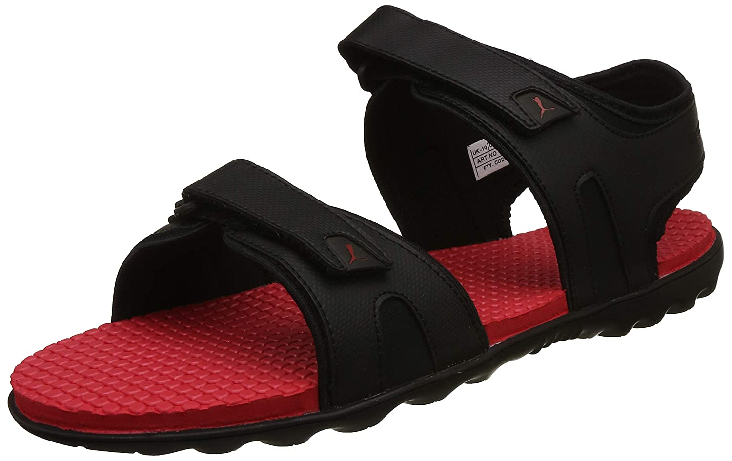 fb90dc679799 Puma Men s Black-High Risk Red Sandals-7 UK India (40.5 EU)  (4059507896476)  Buy Online at Low Prices in India - Amazon.in