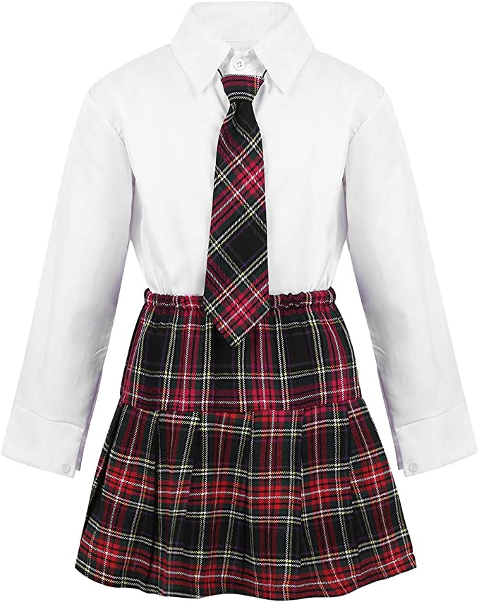 Freebily 4Pcs Uniforme Escolar Japonés Coreano Británico Niñas ...