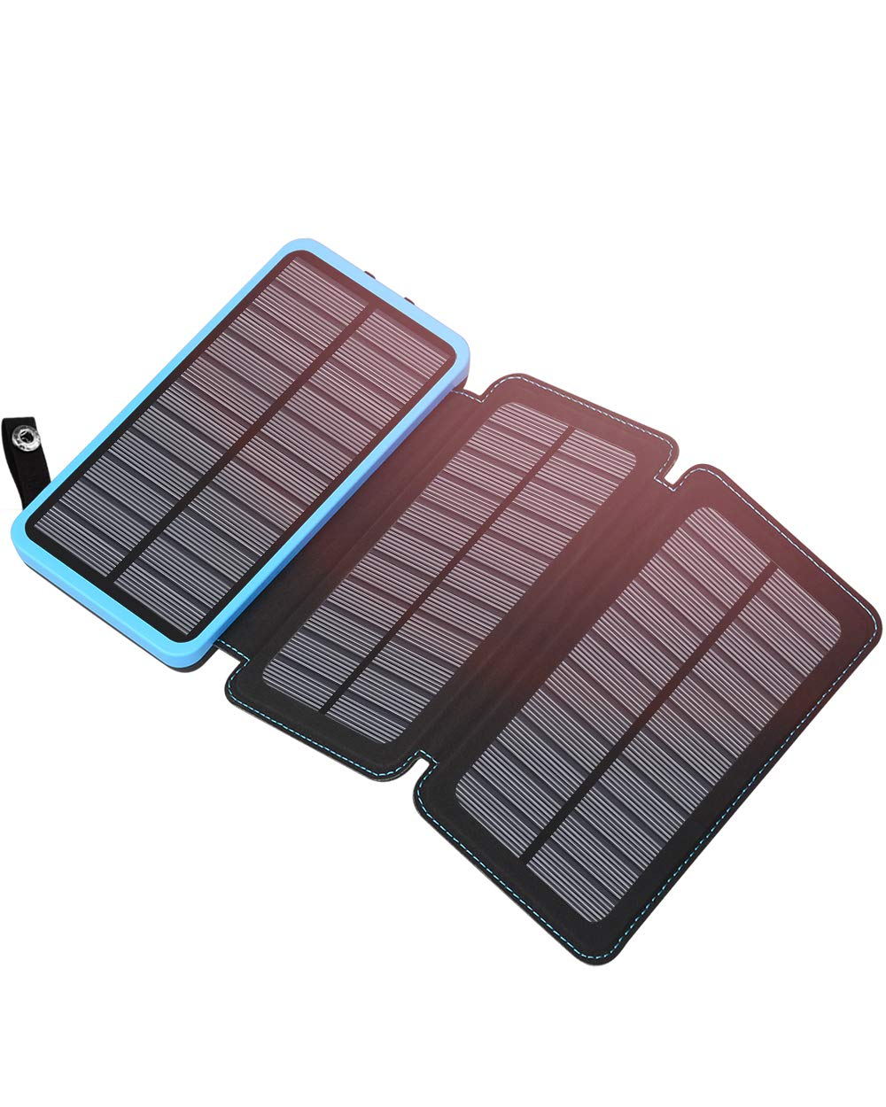 Hiluckey Solar Charger 24000mAh, Solar Power Bank with 3 Solar Panels External Battery Charger 2 USB Ports 2.1A Output for Smartphone, Tablet (88Wh)
